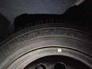 Mini Cooper winter tires with rims goodyear nordic 185/65R15