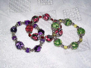 Handmade Polymer Clay Beaded Bracelets~Collector Gifts!