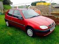 CITROEN SAXO FORTE 1.1,2000,ONLY 75,000 MILES,MOT AUGUST 2017,EX CONDITION FOR YEAR,£495!