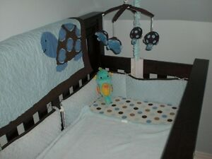 Sea Turtle Crib bedding and everything to decorate your nursery!