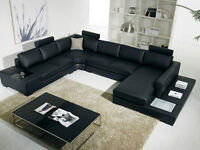 **Leather Sectional Sofa with Reversible Chaise! Free Delivery!
