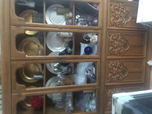 china cabinet, matching, table and chairs