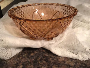 Depression Glass Large Compote Bowl Sparkly Stunning