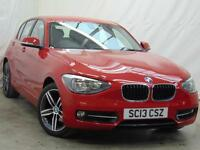 2013 BMW 1 Series 116D SPORT Diesel red Manual