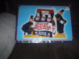 Older repro Pepsi Cola tin sign with Policemen Characters