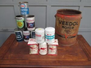 Vintage Oil Cans and Oil Filters
