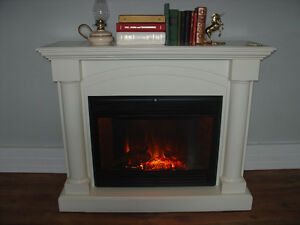 Large White Electric Fireplace