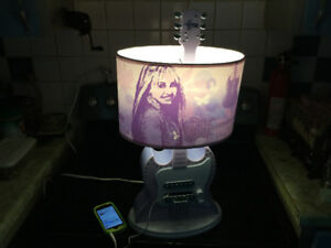Hannah Montana guitar Lamp & MP3 player in one