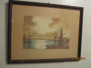 Two Antique Nautical Watercolor Paintings