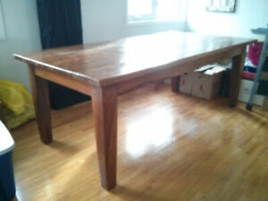 Teak table made from ship timber