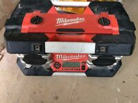 Milwaukee combi set and impact driver also radio for sale