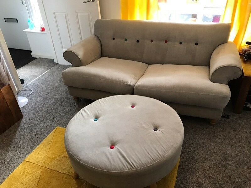 Dfs Orbit 3 2 Seater Sofas And Footstool In Bolton