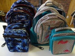Boy & Girl School Back Packs with Lunch Bag