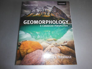 Geomorphology: A Canadian Perspective 5th ed Alan Trenhaile 2013