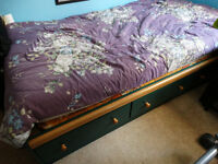 Twin bed with built in drawers