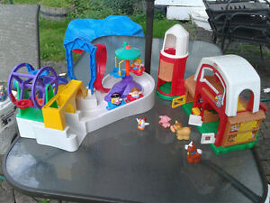 2 sets for $10: Little People Farm and Amusement Park