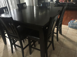ESPRESSO 7-PIECE KITCHEN TABLE SET