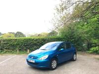 2004/04 Peugeot 307 1.4 16v Envy 5 Door Hatchback Blue
