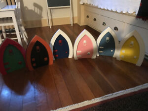 Fairy Doors ( hand made & painted) by local Halifax Carpenter.