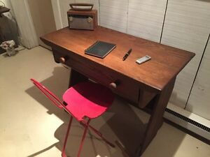 Antique desk Branded old hickory