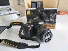Nikon D3200 SLR camera and 18-55 VR 2 kit