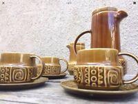 Vintage Retro Tudor Ware Tea & Coffee Set