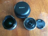 Sony SEL 16mm f2.8 avec fisheye adapter