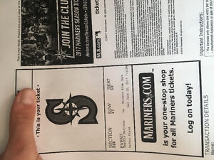 Two blue Jays tickets