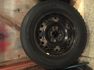 225/65/R16 Goodyear Nordic Winter rims and tires. St. John's Newfoundland image 1
