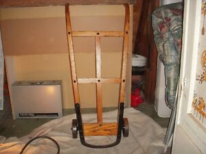 ANTIQUE MOVING CART FROM CN RAIL FULLY RESTORED