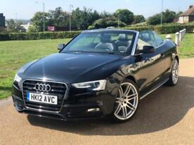 Audi A5 2.0TDI 2012 Facelift Quattro S Line Red Cabriolet Convertible *FSH