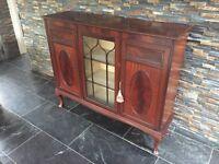 1920s Georgian style mahogany sideboard display cabinet