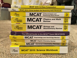 Selling: Princeton MCAT 2015 Complete Package & 4 independent MC