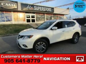 2015 Nissan Rogue SL  AWD NAV LEATH PANO-ROOF CAM PWR-GATE 2X-P/