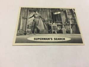 SUPERMAN trading card #56 Topps 1965 DC Comics TV George Reeves