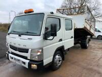 2012 Mitsubishi Canter 7c15 euro 5 crew cab multi-lift XR5S hookloader with bin
