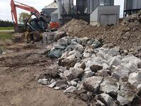 Skid Steer, concrete breaking, concrete pads, preparation work,
