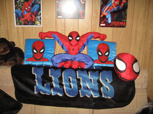 Spidey Stuffed Doll and Pillows London Ontario image 1