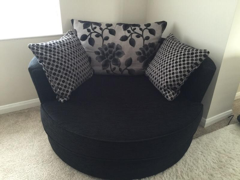 Dfs Swivel Snuggle Cuddle Chair Sofa In Leeds West