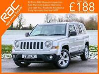 2011 Jeep Patriot 2.4 Limited Auto 4x4 4WD Sat Nav Bluetooth Full Leather Heated