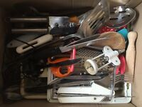 Lots of kitchen utensils