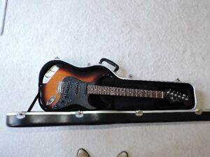 Sunburst Stratocaster guitar with All rosewood neck for sale