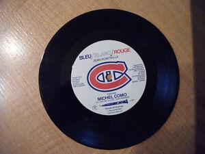 Disque 45 tours des Canadiens de Montréal Bleu Blanc Rouge
