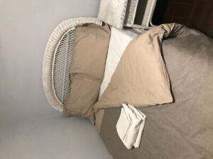 Double bed - box spring, mattress, +