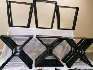 Heavy duty steel table legs and base for sale ( powder coated )