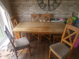 Solid Barker & Stonehouse Oak Dining Table