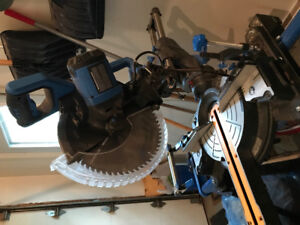 """Mitre Saw - 12"""" Mastercraft DB Slide with stand"""