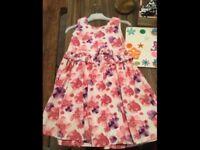 Girls flower dress age 3-4