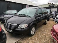 CHRYSLER VOYAGER 2.4 LX 7 Seater Black Low Mileage Manual Rare Petrol 2006 (55)