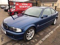 (02) BMW 318CI SE, 1 YEAR MOT, WARRANTY, NOT GOLF MERCEDES A3 ASTRA FOCUS